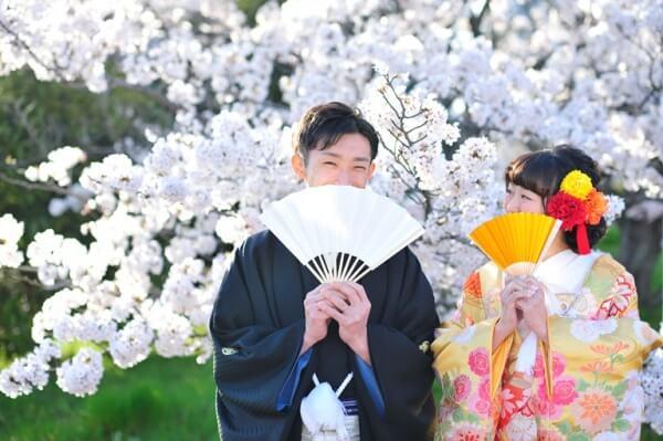 新潟市 結婚式場 ピアザララルーチェ 撮影 ロケション フォト 前撮り 桜