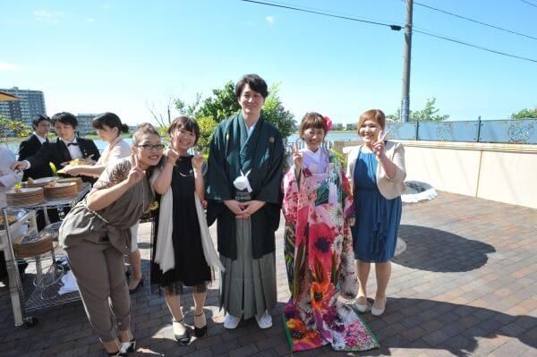 新潟市 結婚式場 ピアザララルーチェ デザートビュッフェ 演出 ガーデン