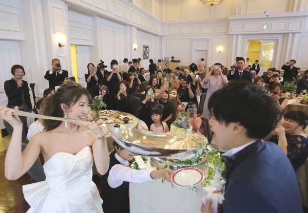 新潟市 結婚式場 ピアザララルーチェ ファーストバイト 演出 カメラマン