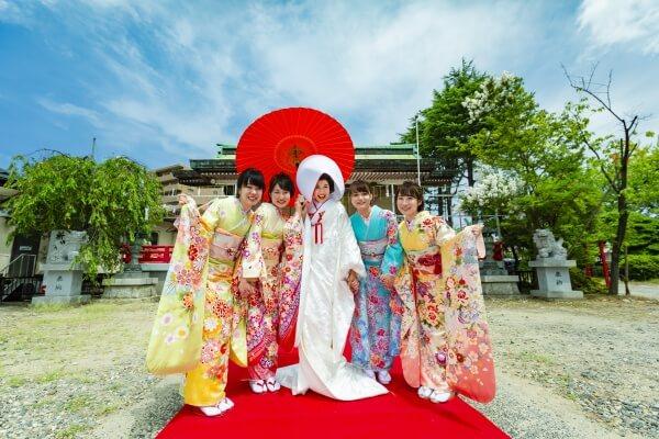 新潟市 結婚式場 ピアザララルーチェ フォトスポット 和装